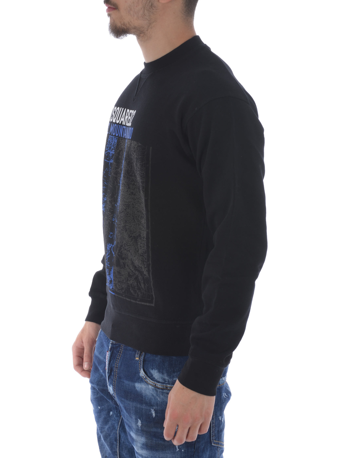 Printed cotton sweatshirt by Dsquared2 - Sweatshirts & Sweaters ...
