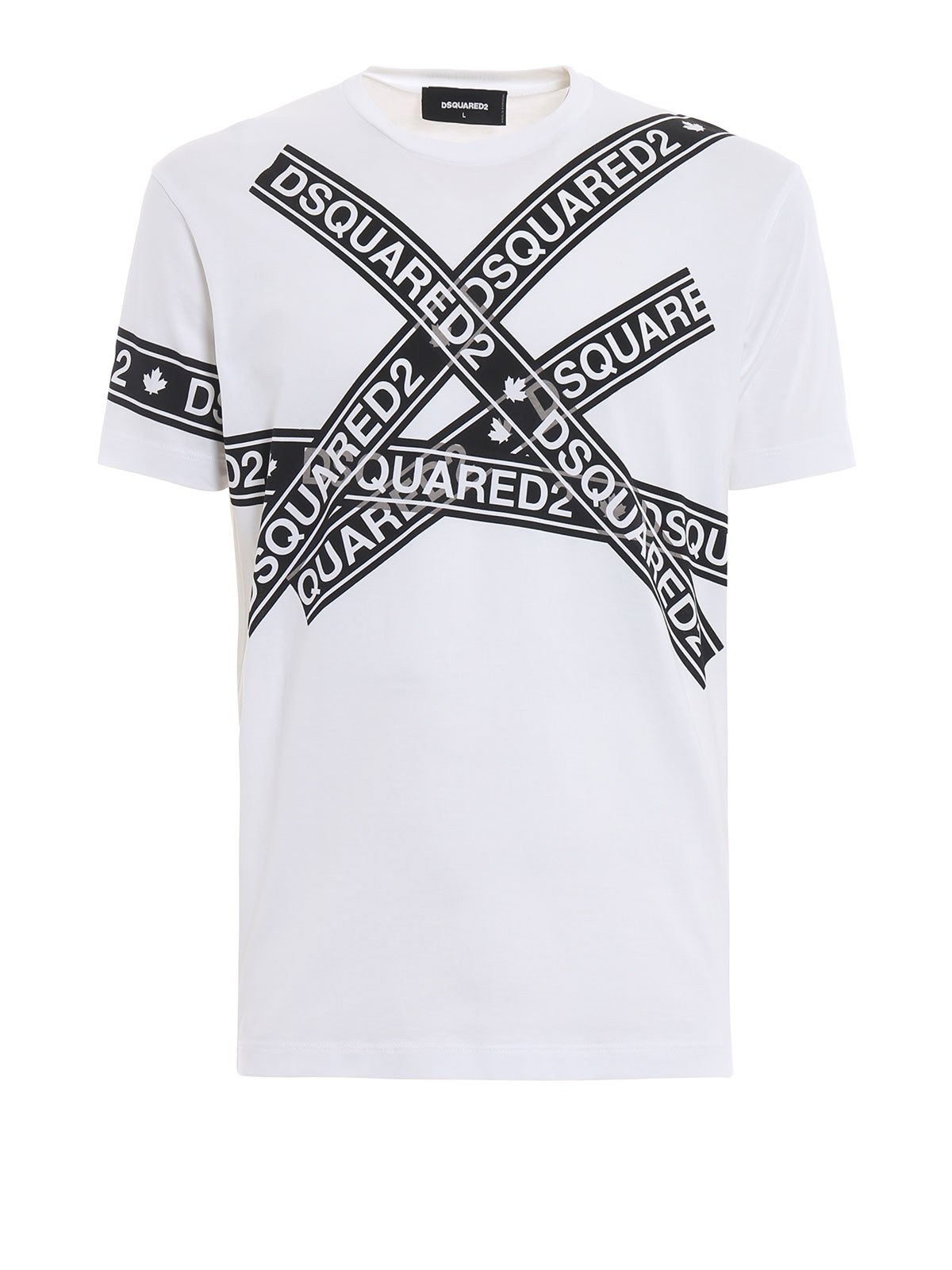big sale 5e6a8 2a410 Dsquared2 - T-shirt con stampa nastro adesivo logato - t ...