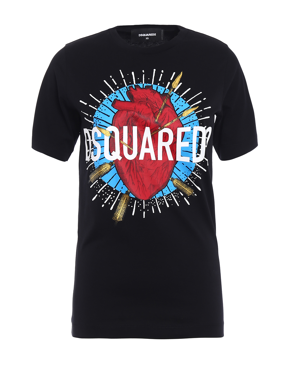 Logo print t shirt by dsquared2 t shirts shop online for Tee shirt logo printing