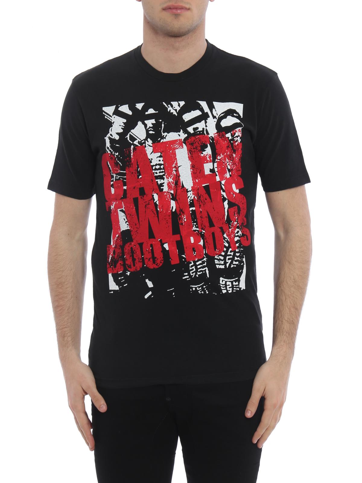 Popular Online Cheap Sale For Nice Dsquared2 Boot print T-shirt Sast Huge Surprise Sale Online Big Discount Online svhIP
