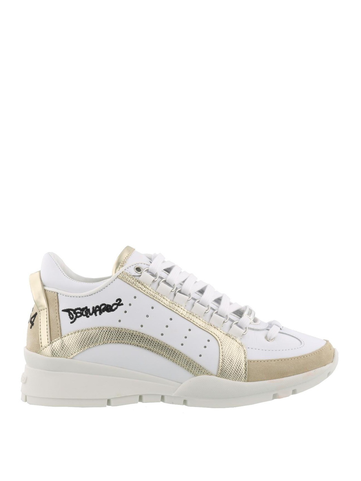 Gold detail 551 leather sneakers