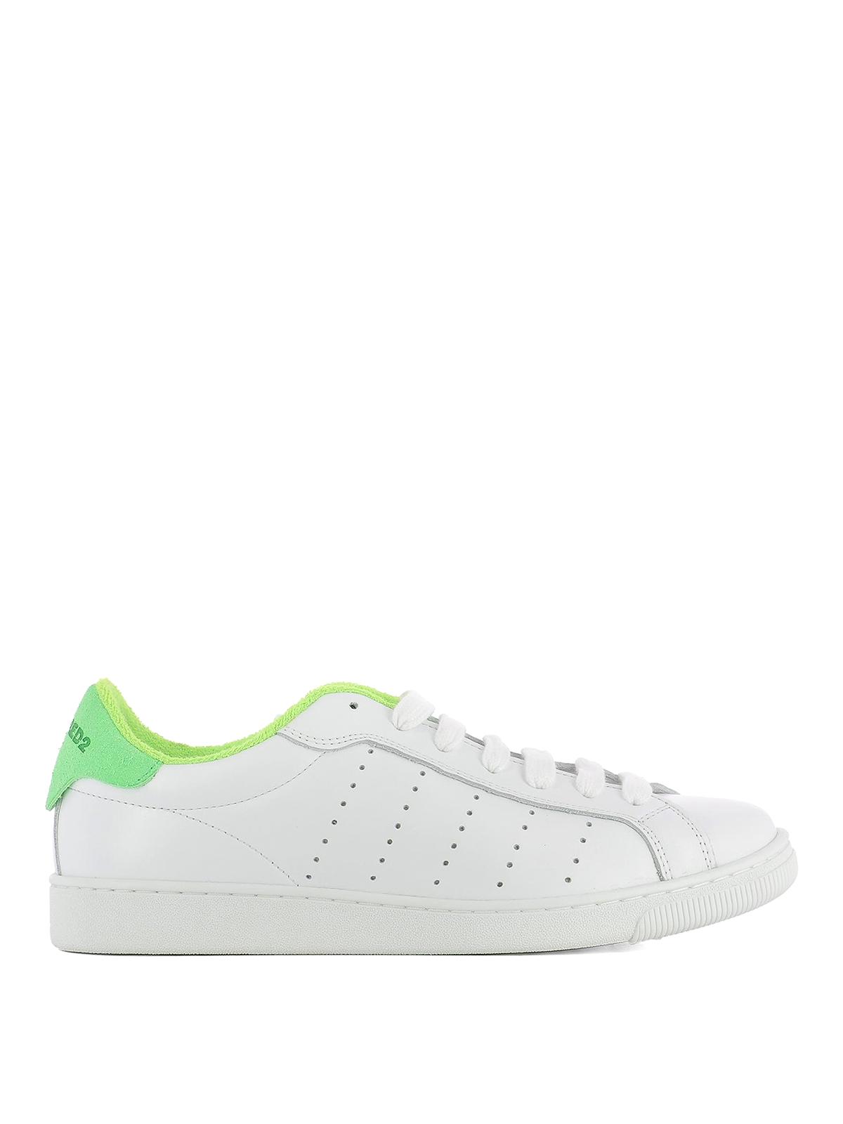 Green detail Santa Monica sneakers