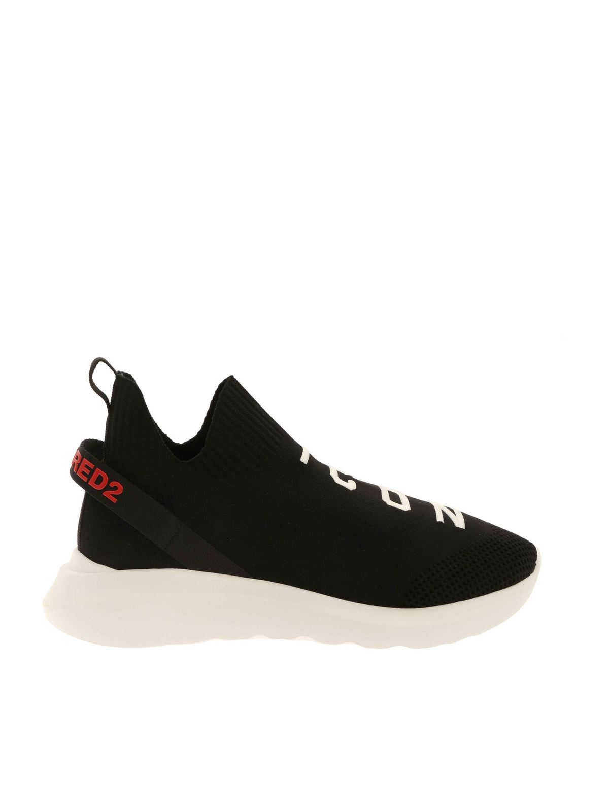 Dsquared2 Shoes ICON EMBROIDERY SNEAKERS IN BLACK