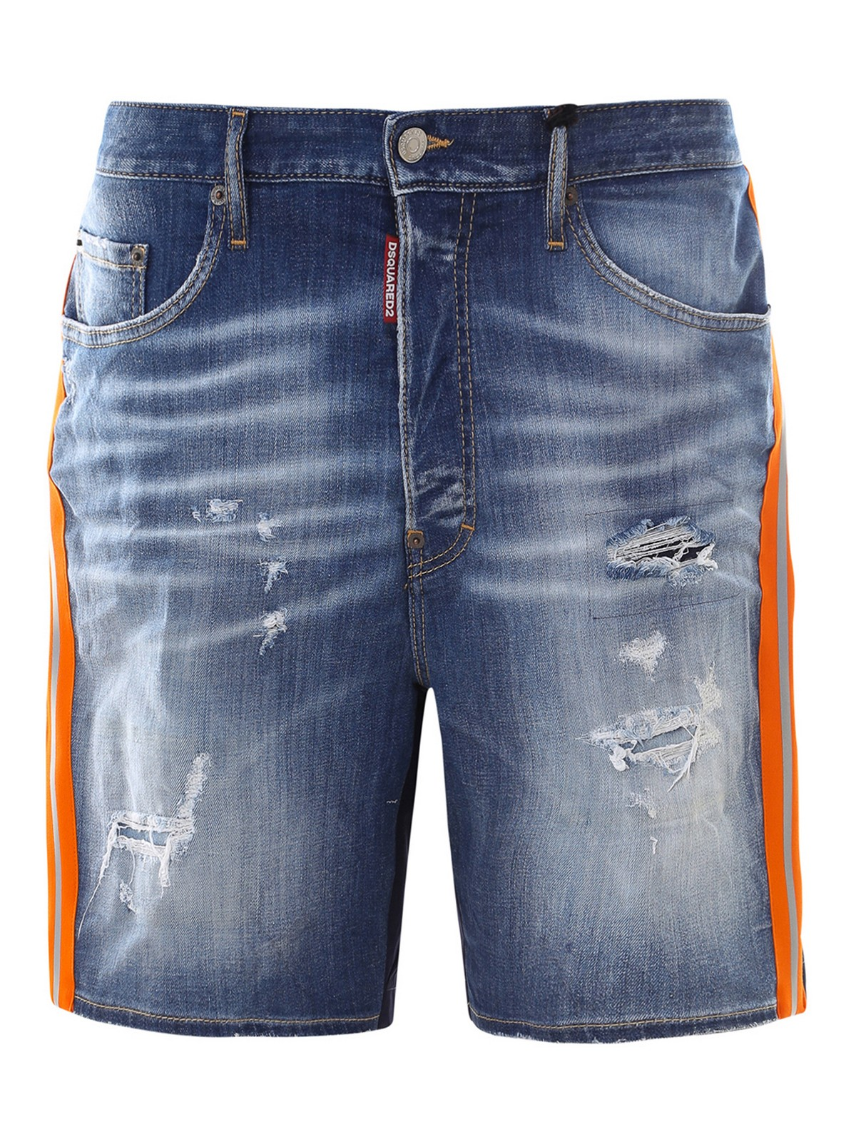 Dsquared2 Denims DENIM AND TECHNICAL FABRIC SHORTS