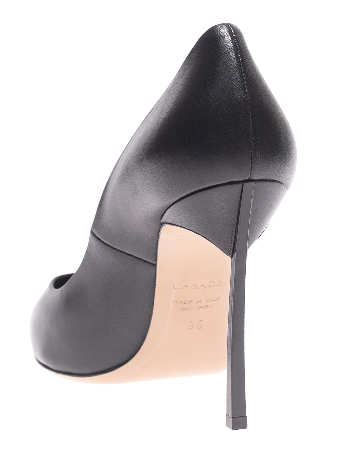 Casadei - Décolleté nere Duse in pelle con tacco Blade - scarpe ... c936c1a6e57