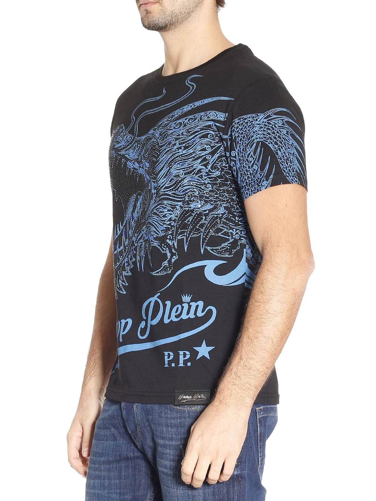 efficient dragon print t shirt by philipp plein t shirts ikrix