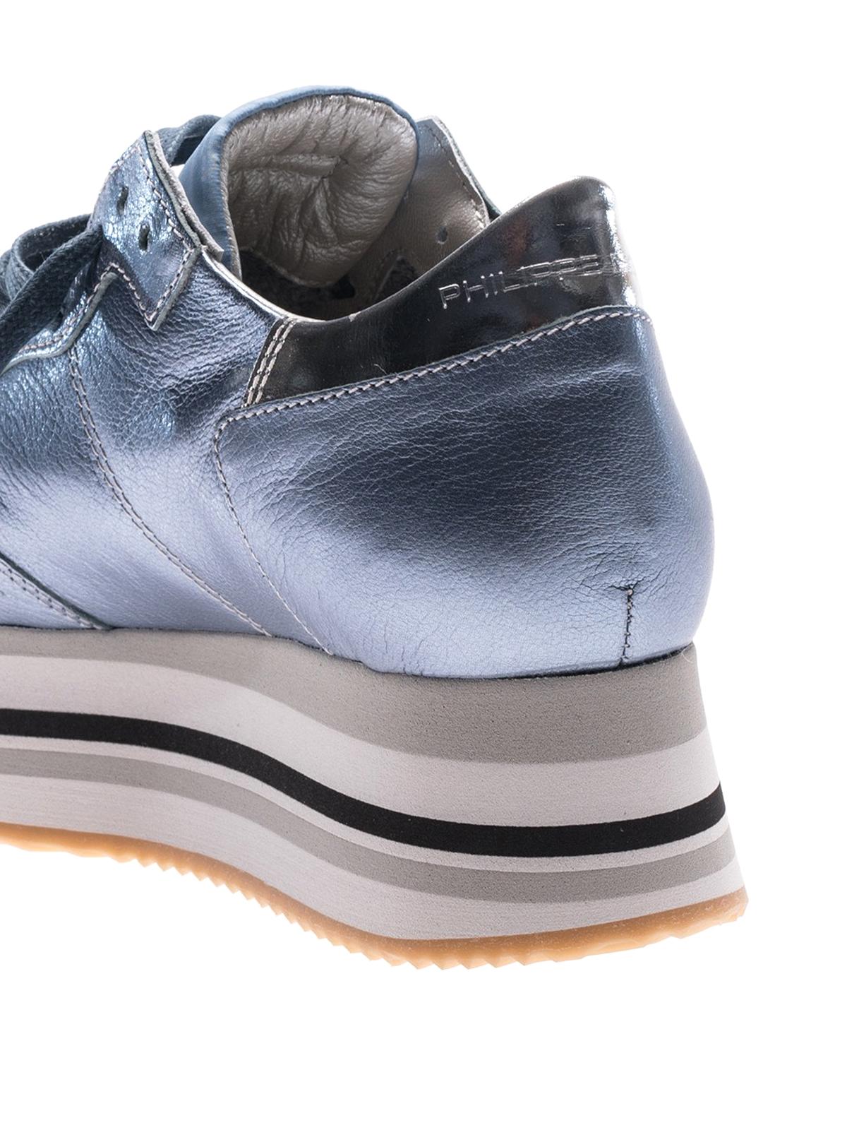 Modèle Philippe Eiffel Chaussures De Sport Bleu Clair msROU