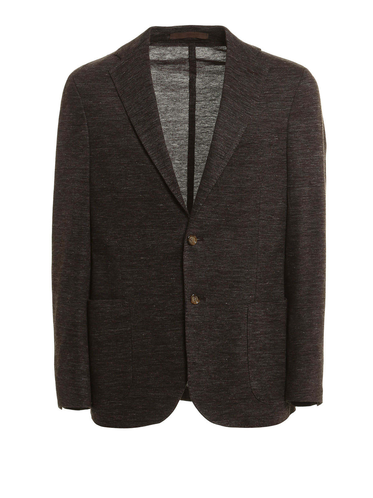 Eleventy - Giacca in lino misto cotone melange - giacche blazer ... 97a005a2f80