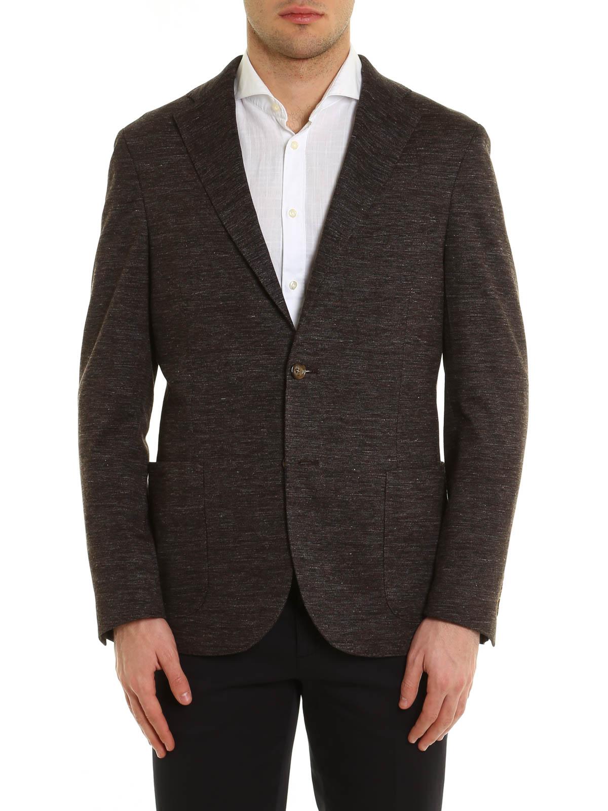 ELEVENTY  giacche blazer online - Giacca in lino misto cotone melange aa03fa28ba9