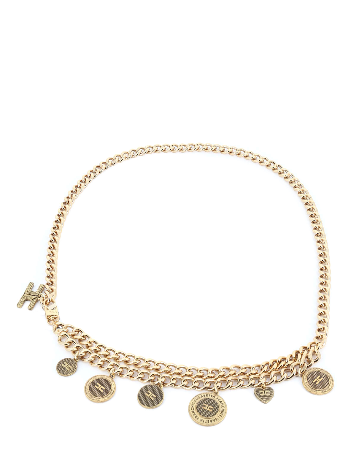 Elisabetta Franchi CHAIN BELT WITH CHARMS