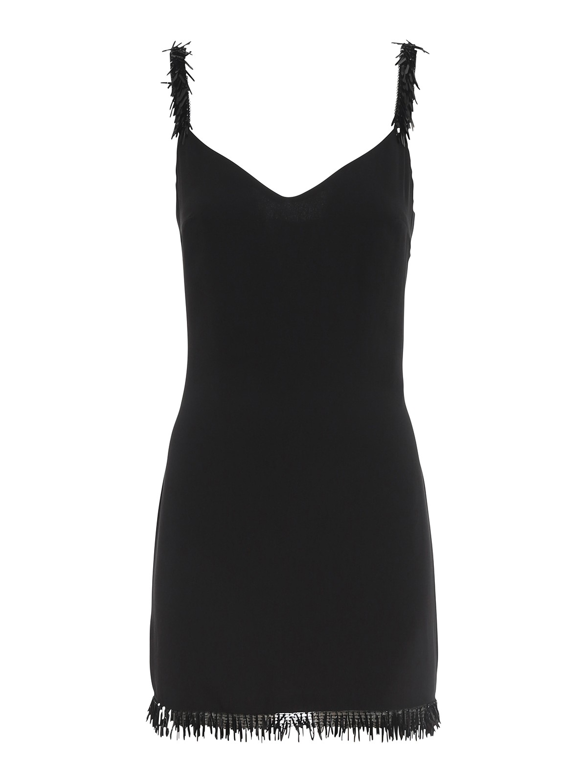 Elisabetta Franchi EMBELLISHED GEORGETTE MINI DRESS