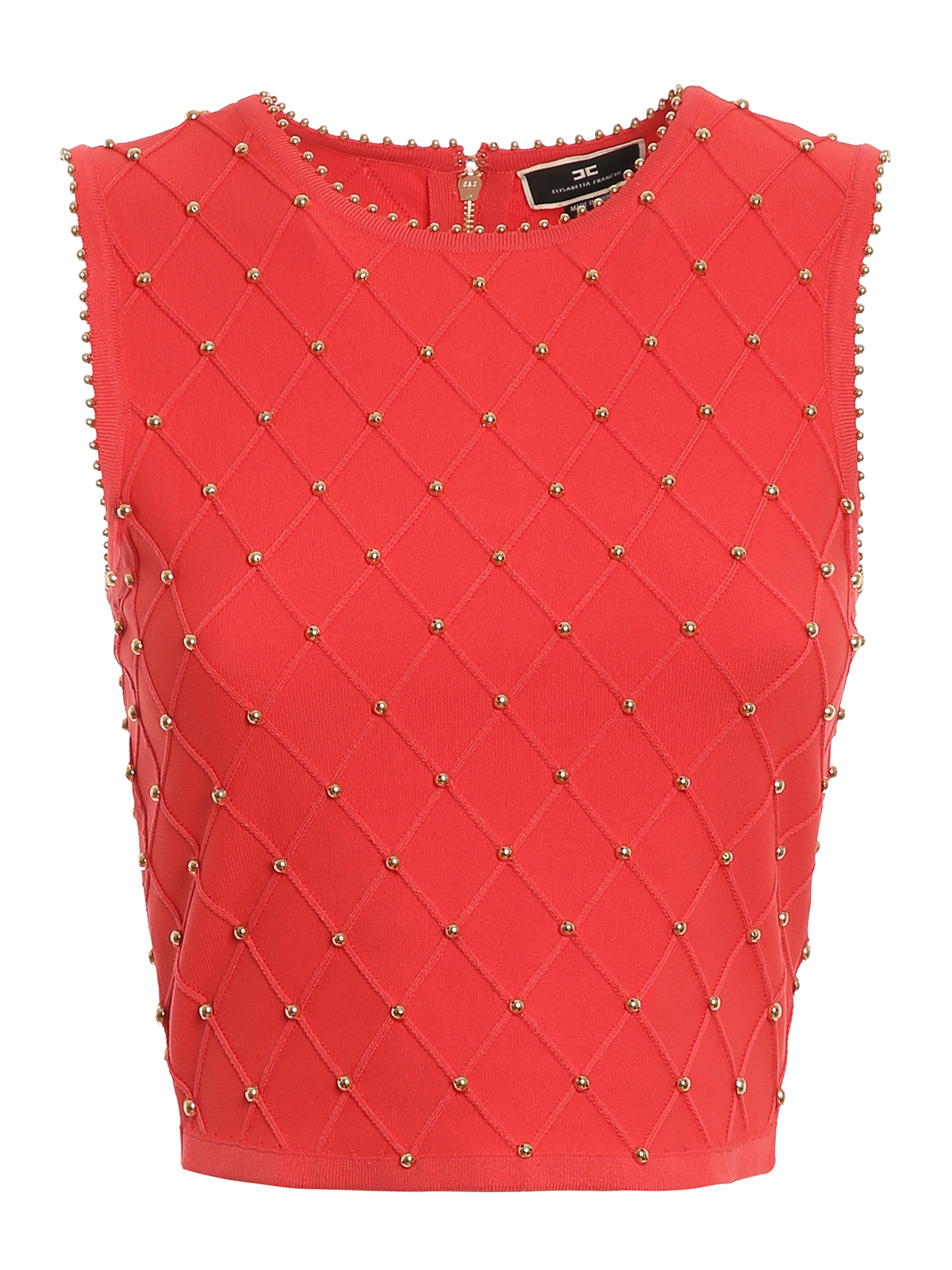 Elisabetta Franchi Knits STUDDED KNITTED TOP