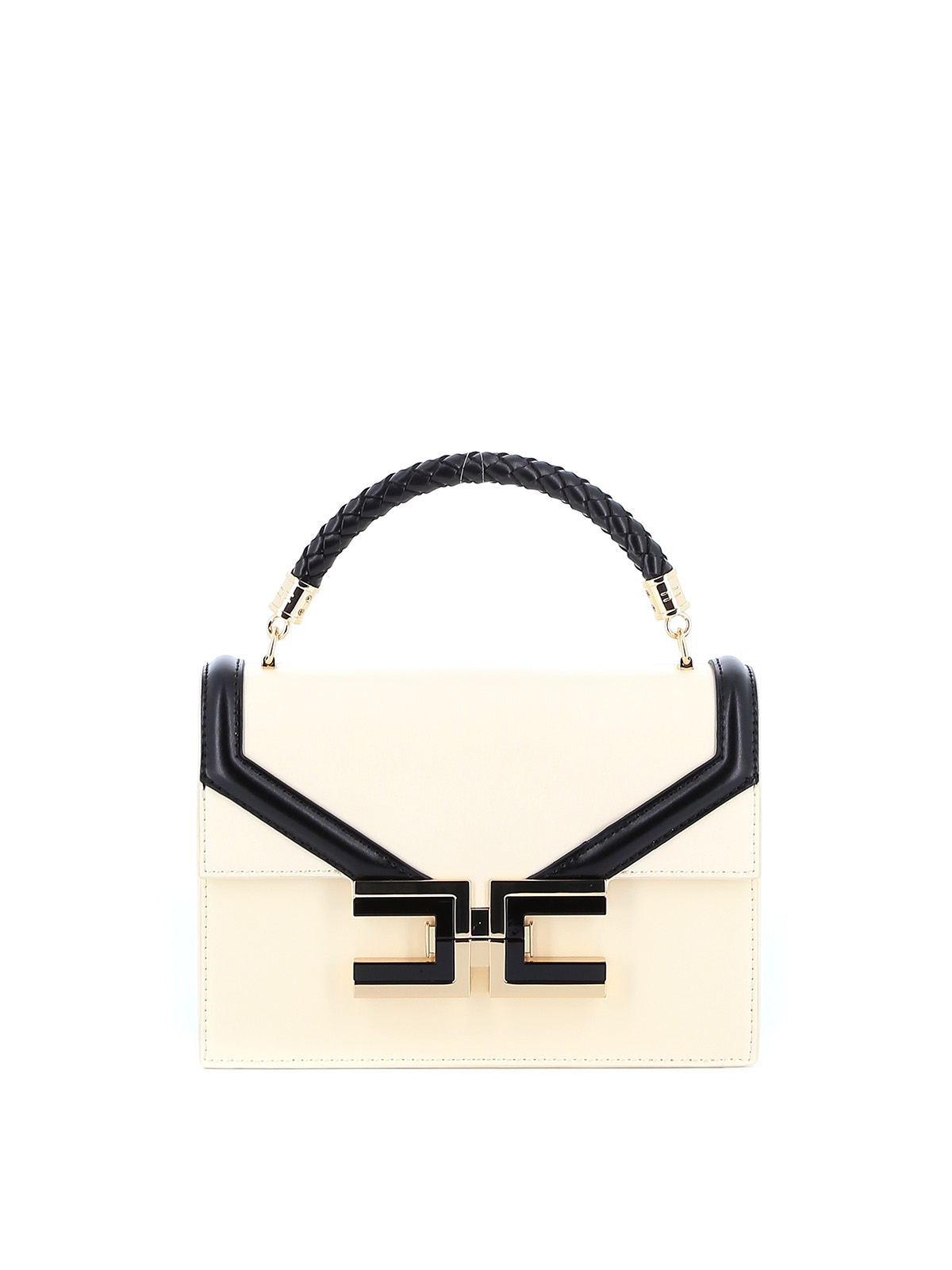 Elisabetta Franchi CONTRASTING PIPING FAUX LEATHER CROSSBODY