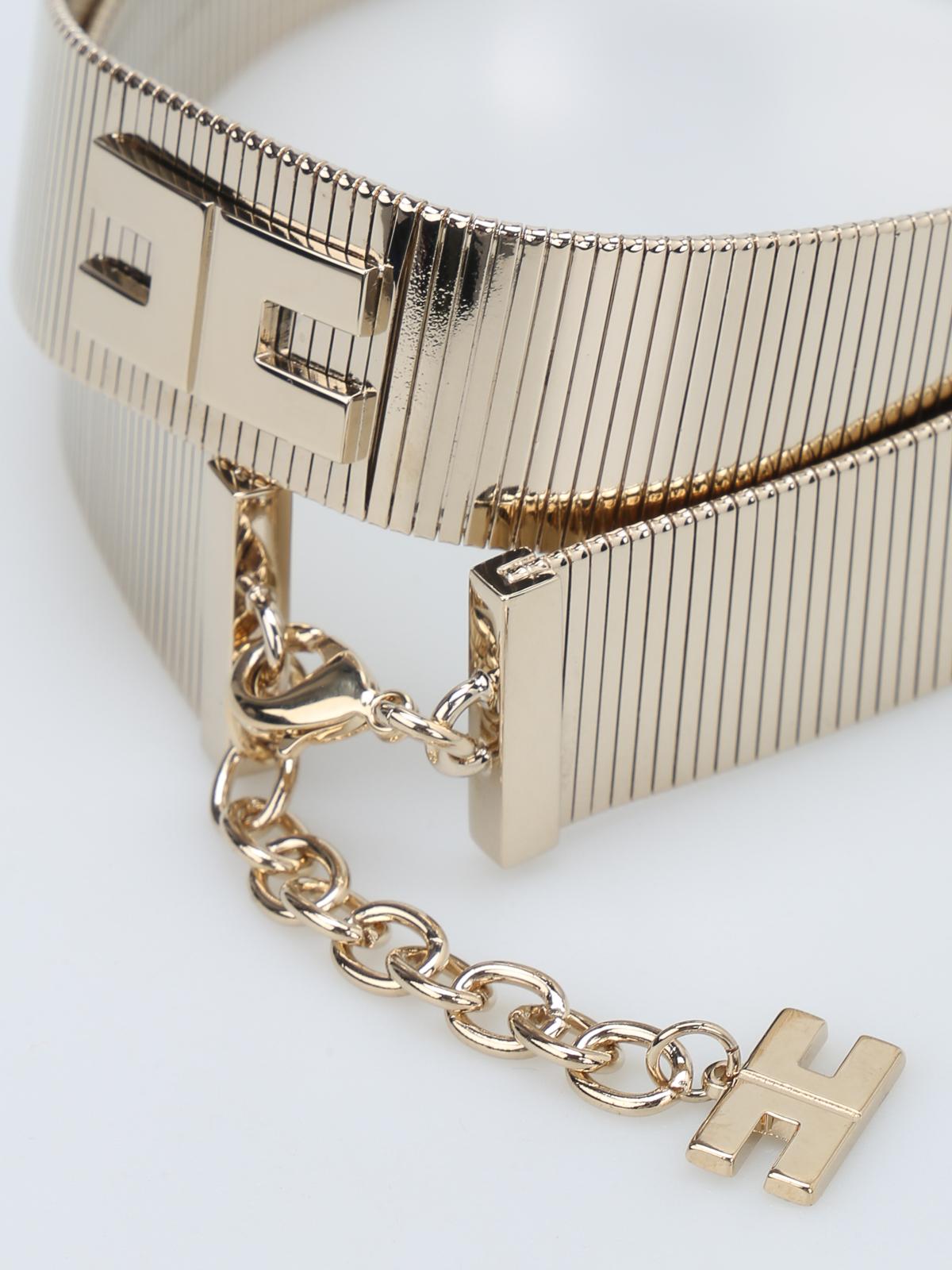 nuovo massimo sconto più votato scarpe da corsa Elisabetta Franchi - Metal waist belt - belts - CT7699184 ...