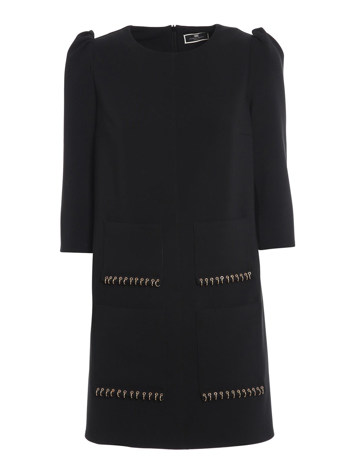 Elisabetta Franchi PIERCING DETAIL SHORT DRESS