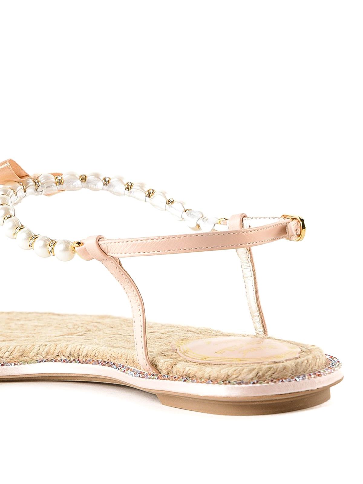 f7ca96d1673 Rene Caovilla - Eliza pearl and crystal thong sandals - flip flops ...