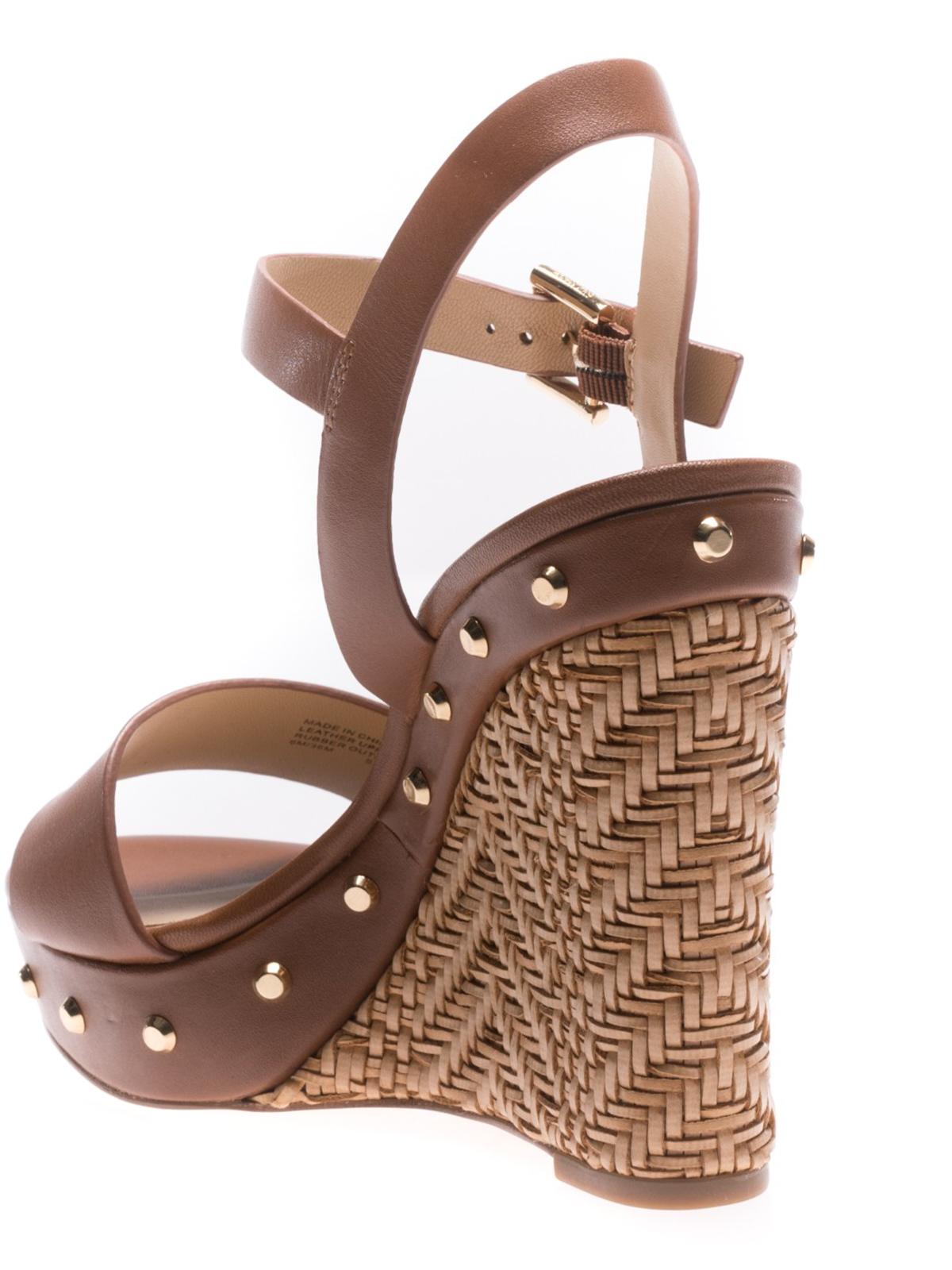 Ellen brown leather wedge sandals