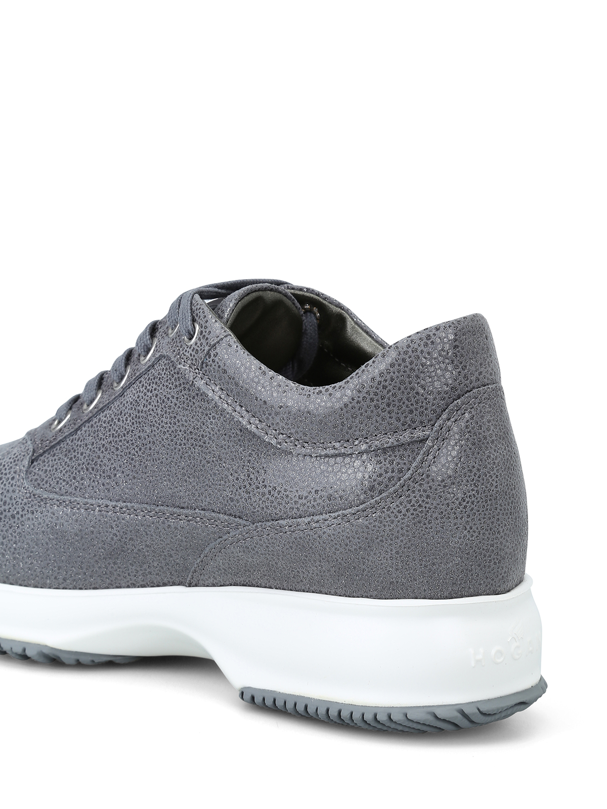 ab10dd193d Hogan - Interactive grigie in suede con H in strass - sneakers ...