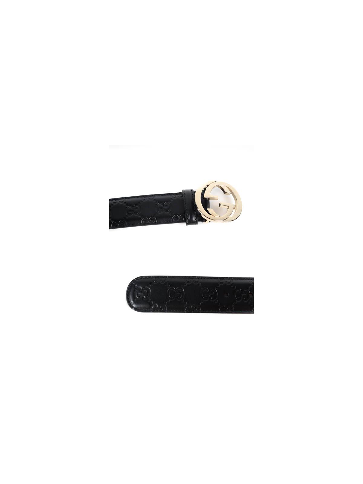 4ec04f818 Gucci - Cinturón Negro Para Mujer - Cinturones - 370543 CWC1G 1000