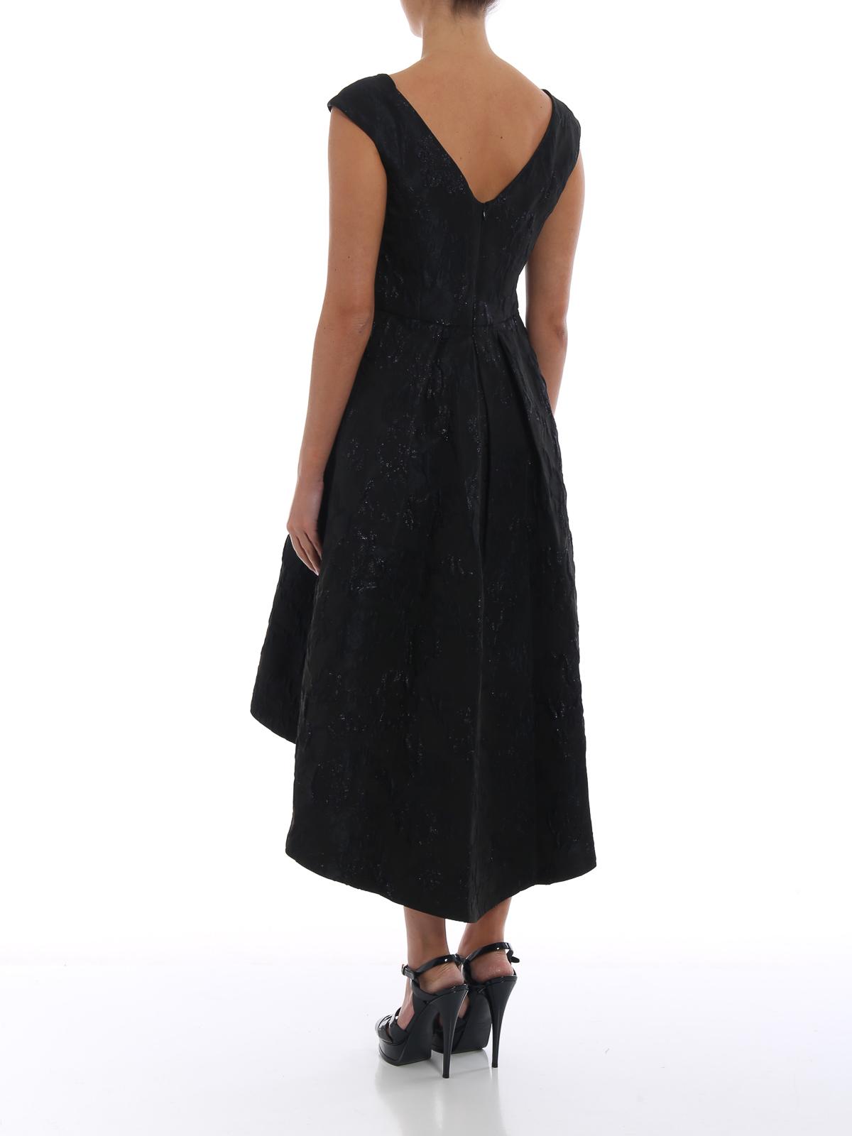 Ralph Lauren - Embossed metallic jacquard asymmetric dress