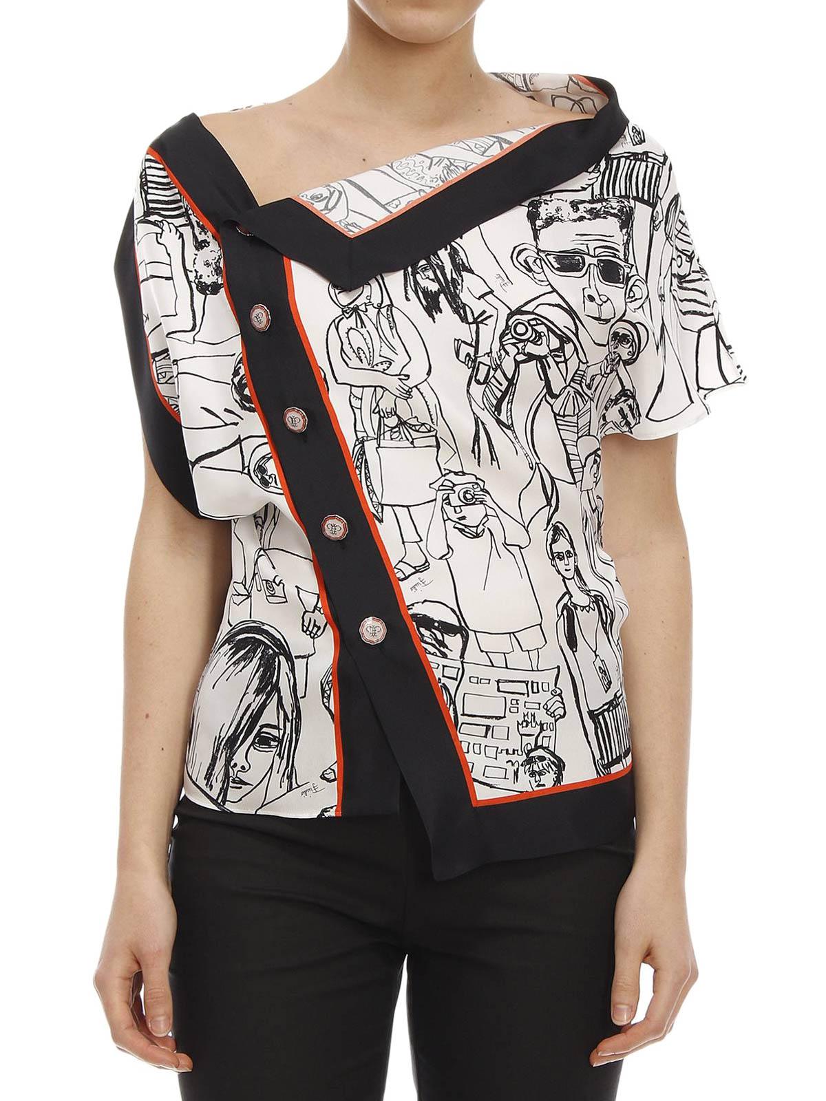 3939b6d0feb3cb Emilio Pucci - Turisti print silk blouse - blouses - 61RN91 61830 044