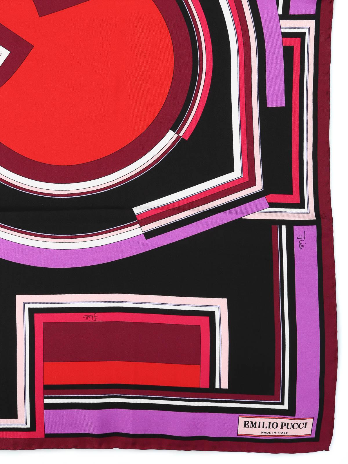 competitive price 0d852 88066 Emilio Pucci - Foulard in twill di seta stampato - sciarpe e ...
