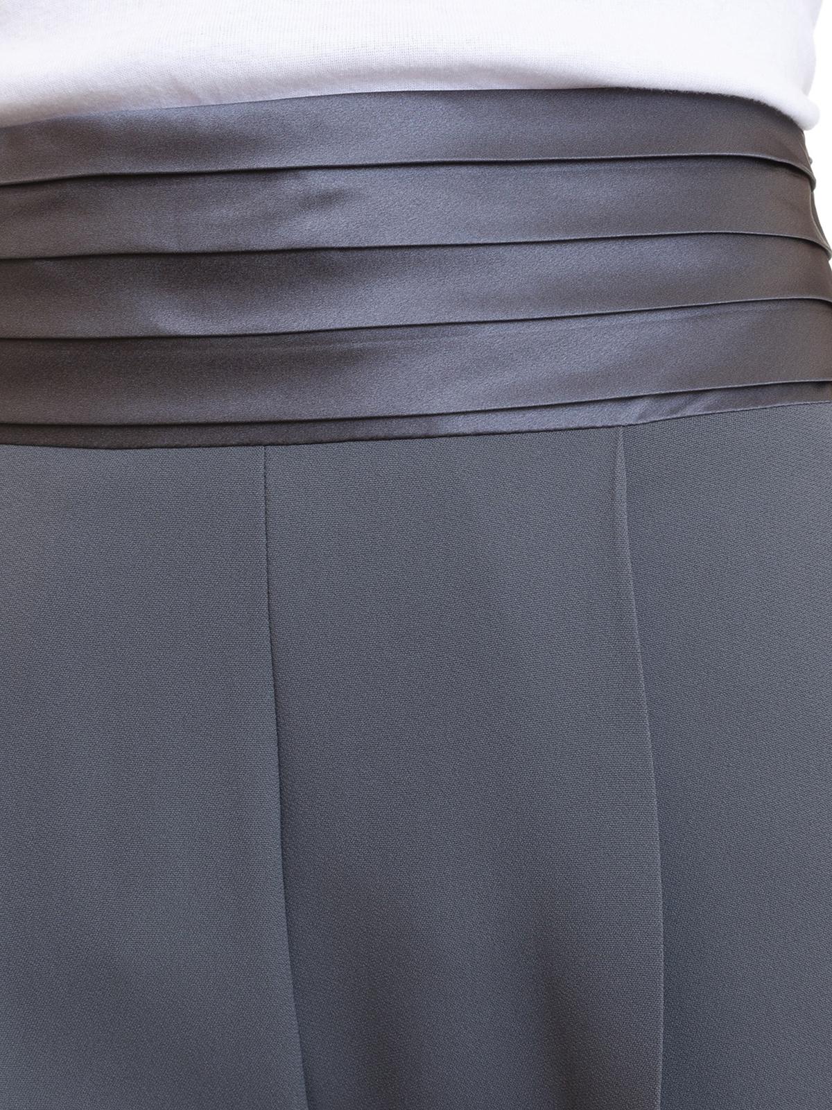 acquistare modellazione duratura dove comprare Emporio Armani - Pantalone da smoking grigio - Pantaloni ...