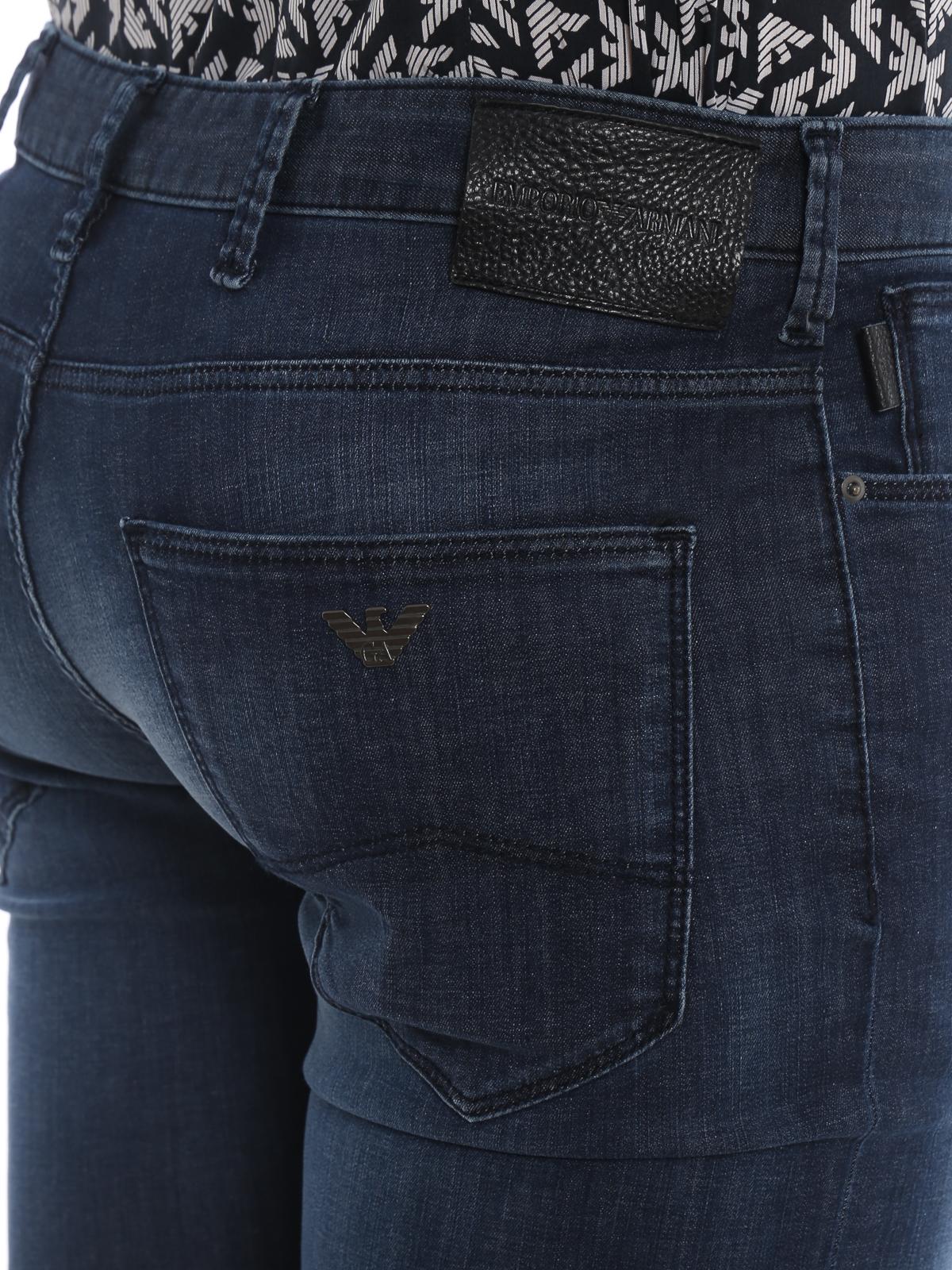 3f160e21 Emporio Armani - J06 slim fit faded jeans - straight leg jeans ...