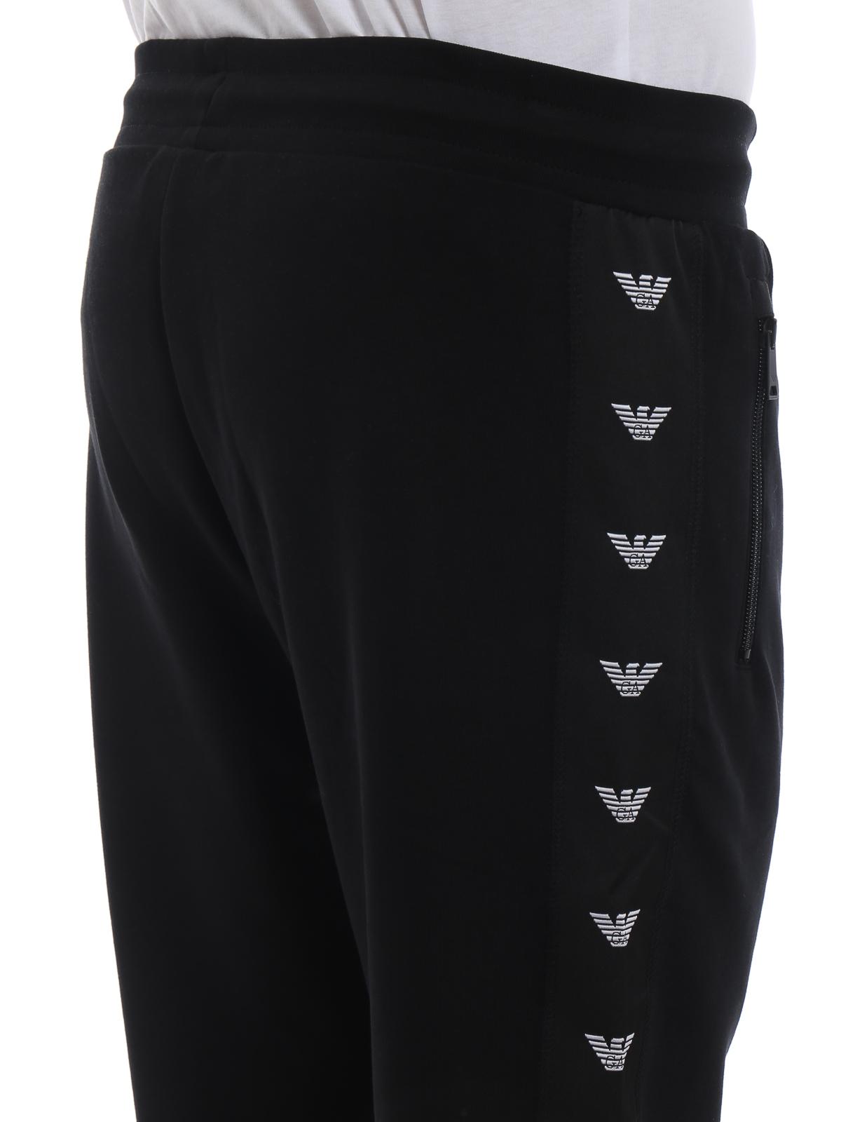 8ad1e1d53e Emporio Armani - Pantaloni da tuta con bande laterali con logo ...