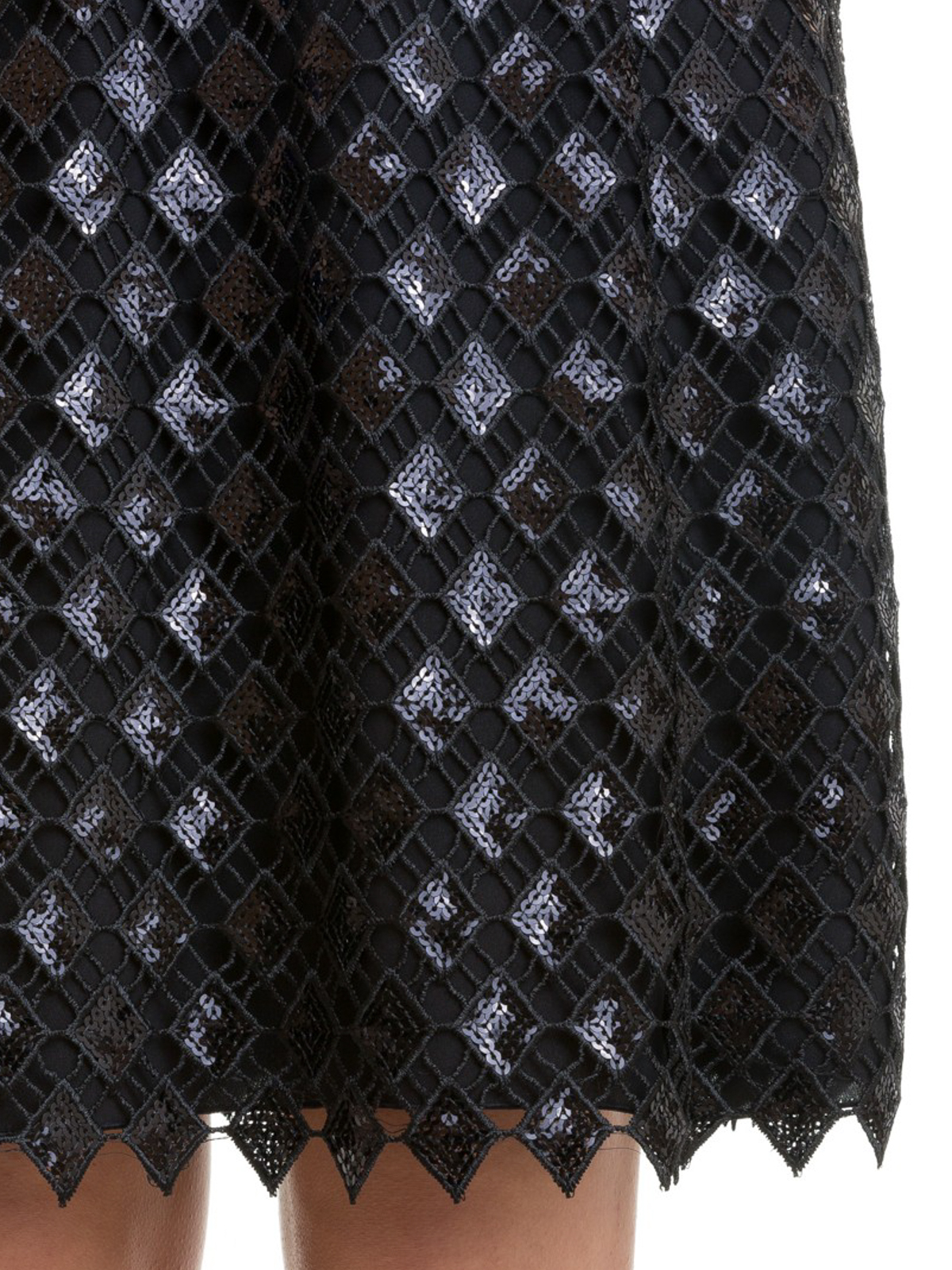 7d96571d02 Emporio Armani - Sequined diamond macramé dress - evening dresses ...