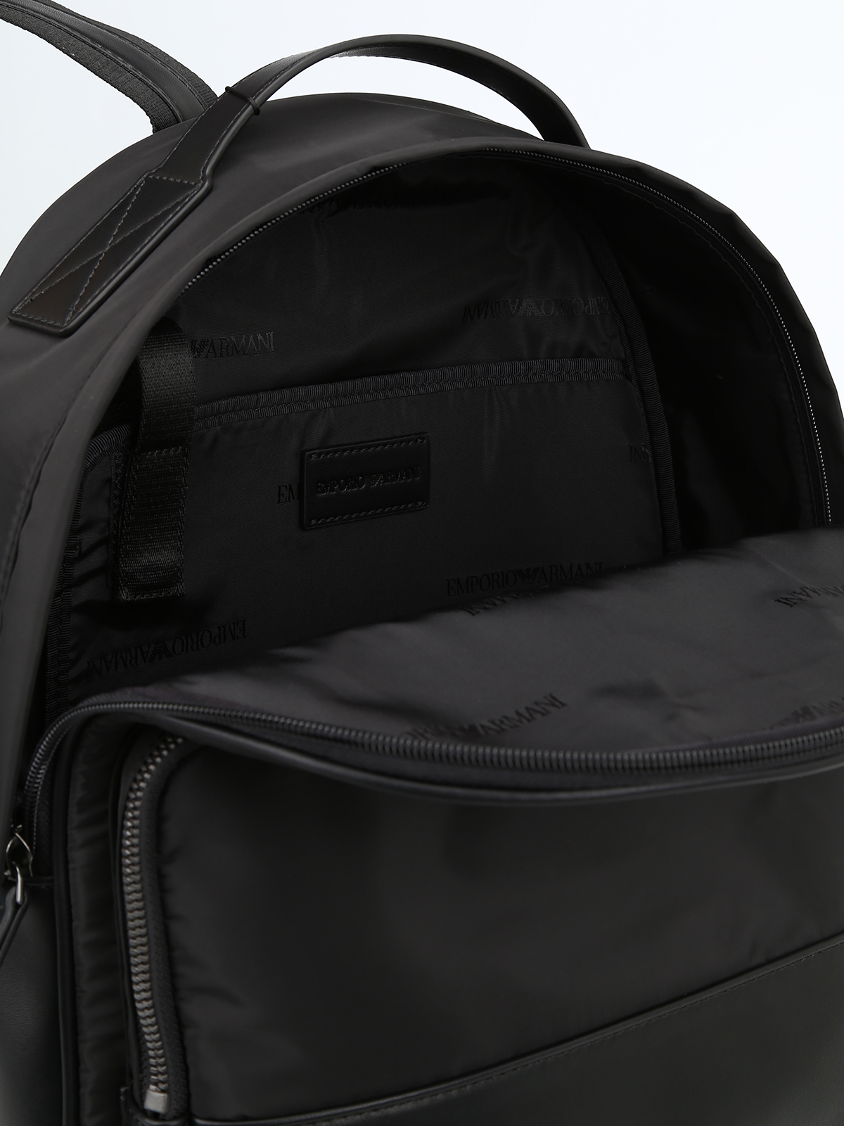 be7800525b18 EMPORIO ARMANI buy online Technical fabric and faux leather backpack
