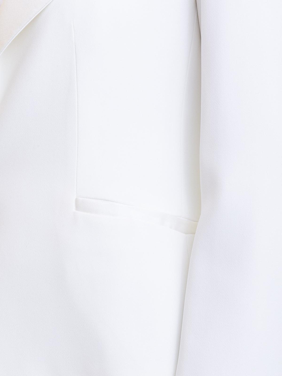 24bb6010 Emporio Armani - White tuxedo blazer - Tailored & Dinner ...