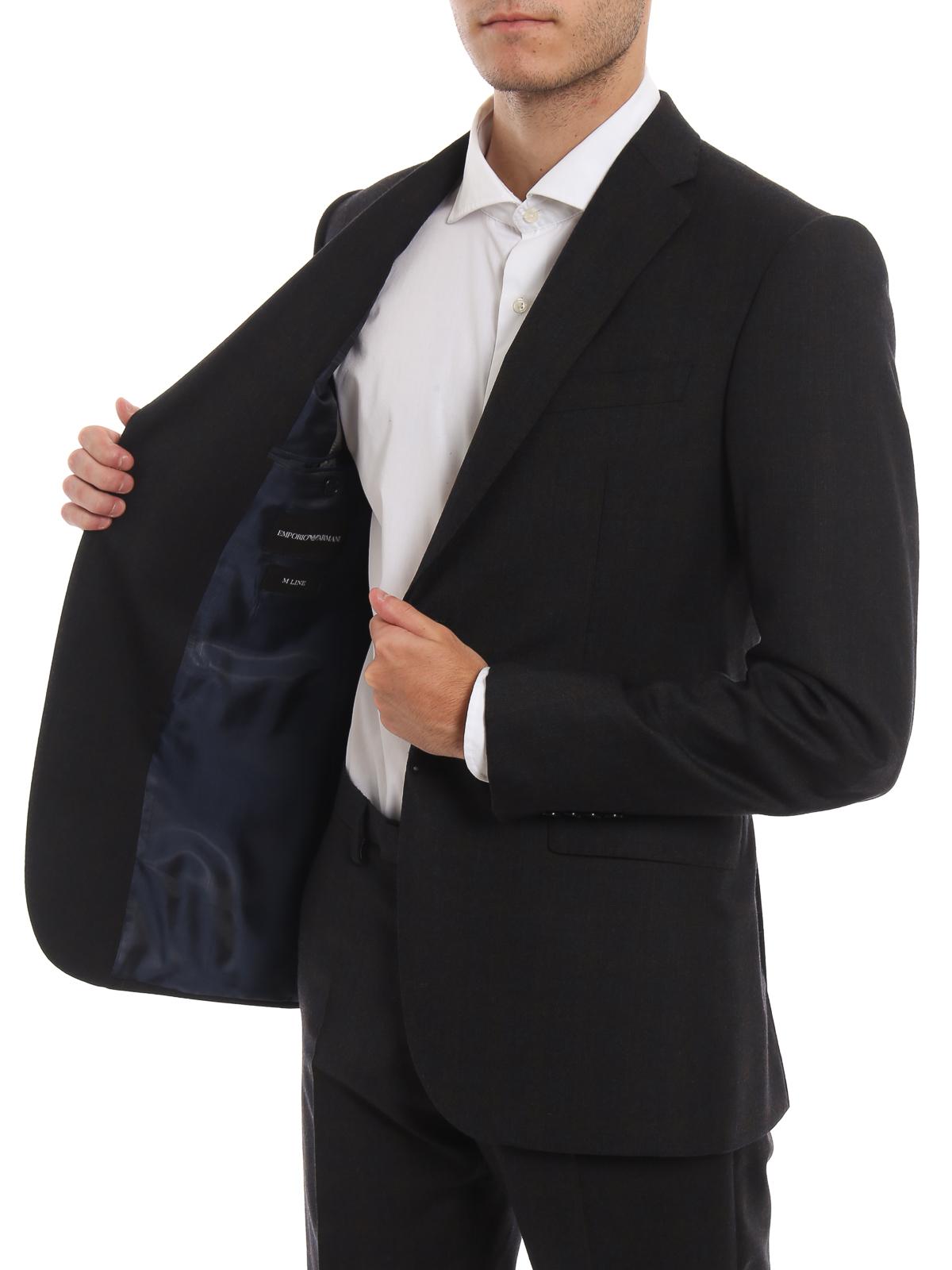cheap for discount 33d34 44809 Emporio Armani - Abito in lana a quadri - completi da ...
