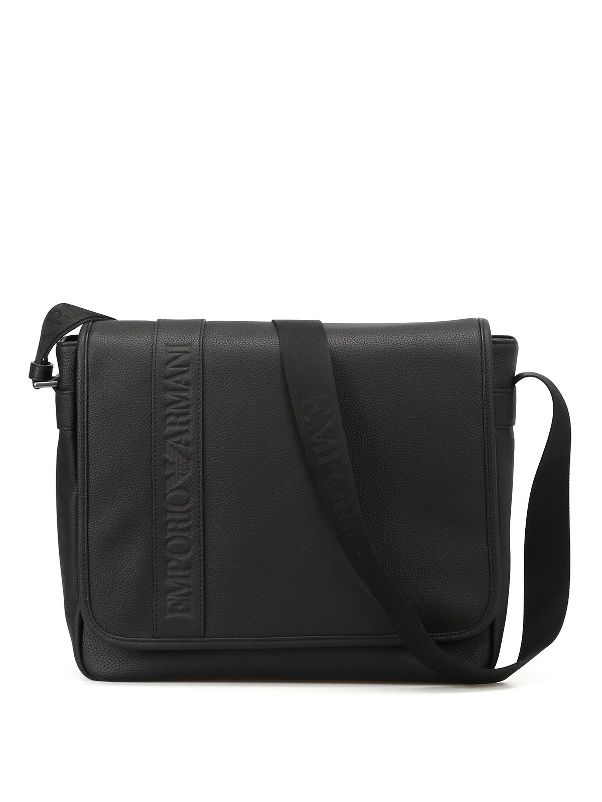 d8f1e4c0cff3 Emporio Armani - Black faux leather cross body bag - cross body bags ...