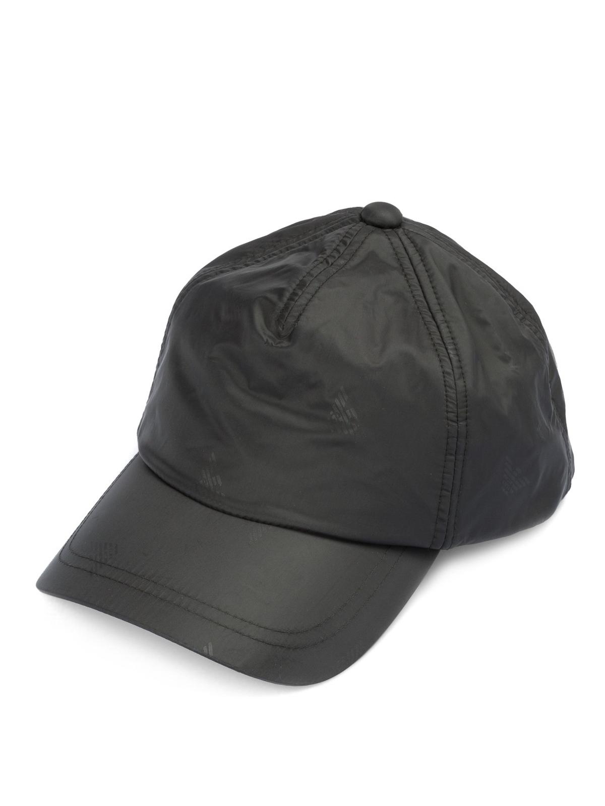 Emporio Armani - Logo print nylon baseball cap - hats   caps ... d3c2f904b69