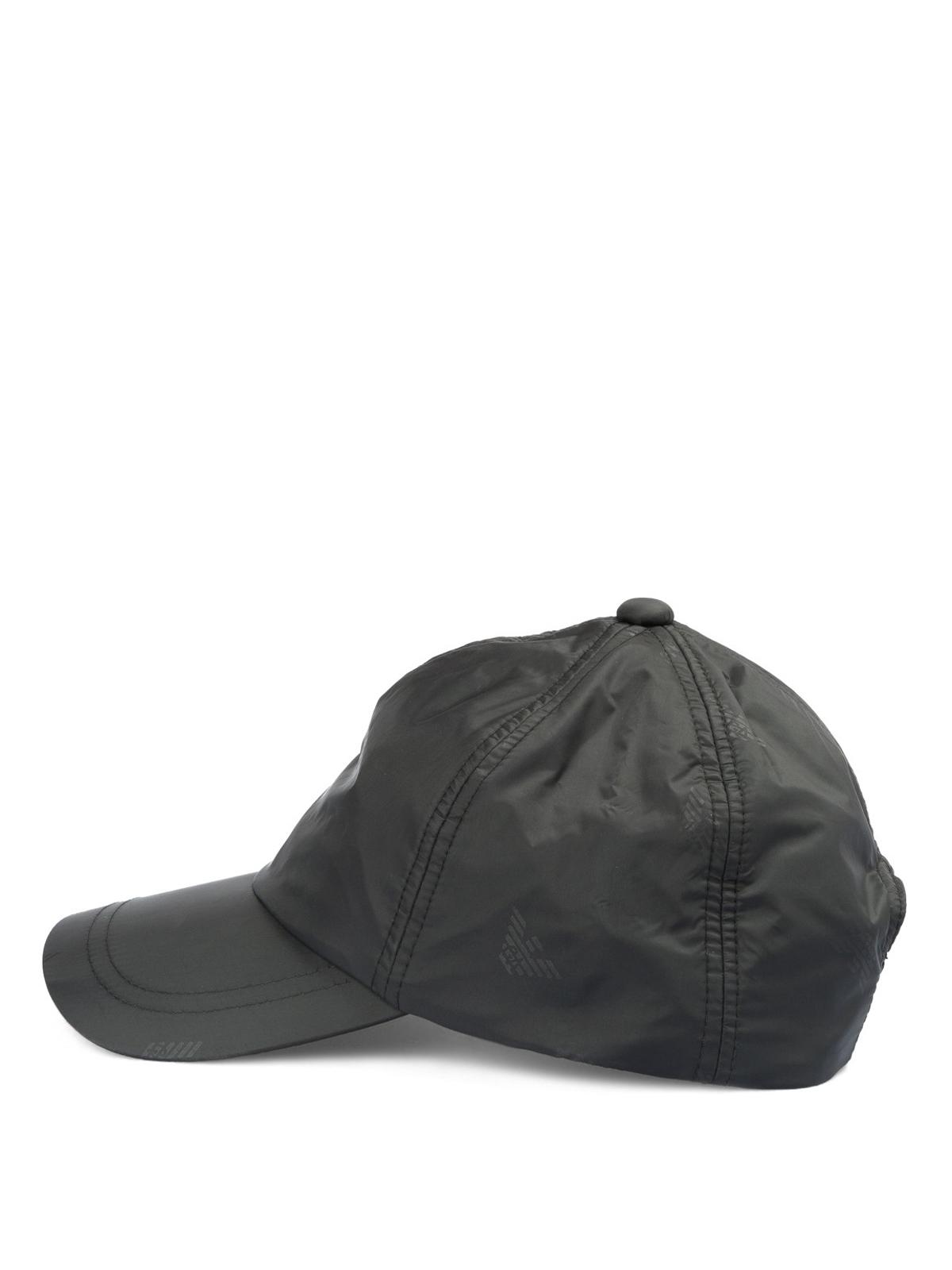 EMPORIO ARMANI  hats   caps online - Logo print nylon baseball cap c4b841340d2