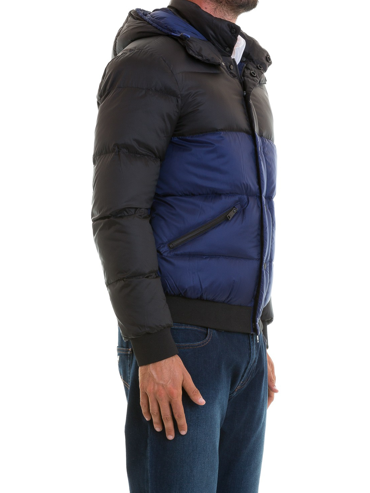 cbbd8f974e Emporio Armani - Bicolour nylon puffer jacket - padded jackets ...