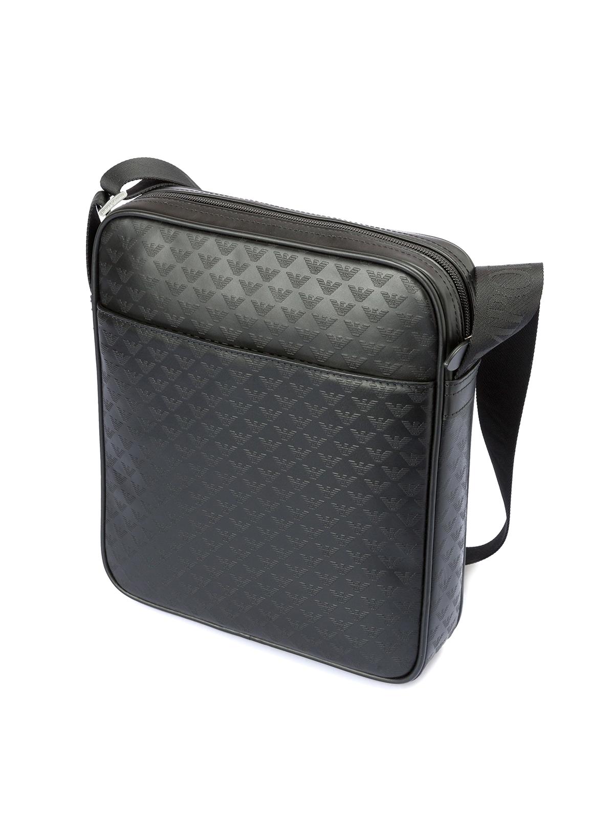 d2dec871d425 EMPORIO ARMANI  shoulder bags online - Signature leather messenger bag