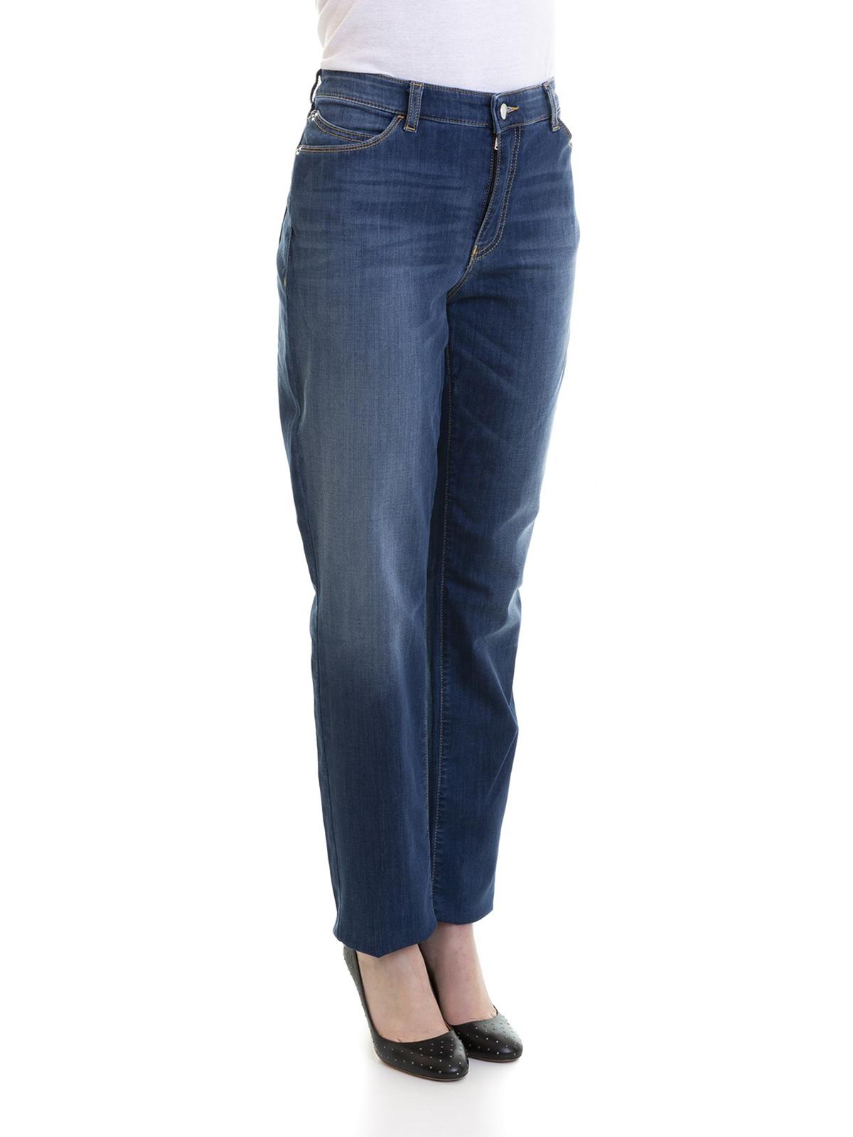 6a2dca1026 Emporio Armani - Faded stretch denim high rise jeans - straight leg ...