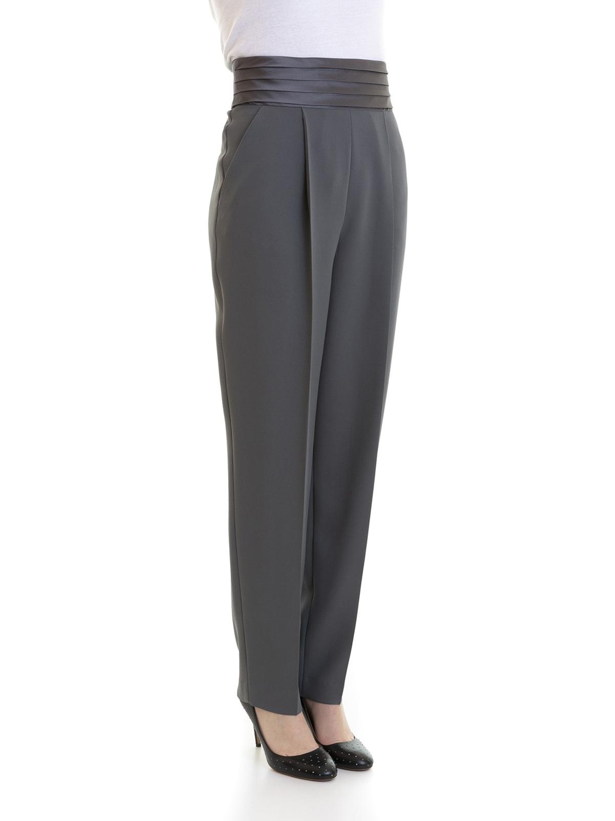 the latest f0dfb 14aac Emporio Armani - Pantalone da smoking grigio - Pantaloni ...