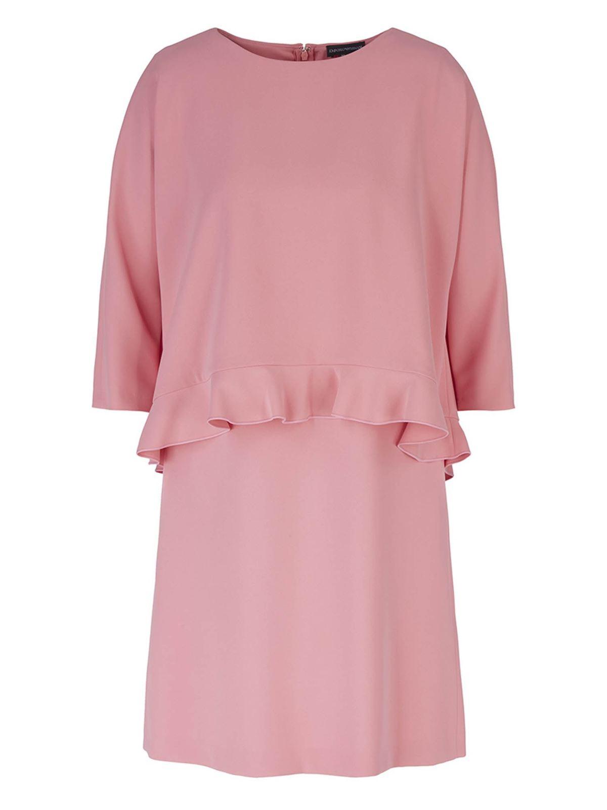 Emporio Armani FLOUNCE DRESS IN PINK