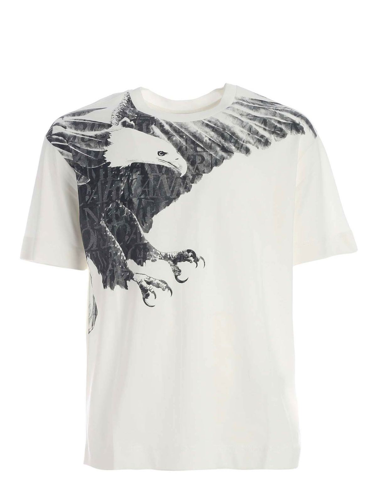 Emporio Armani SHADES OF GREY PRINT T-SHIRT IN WHITE