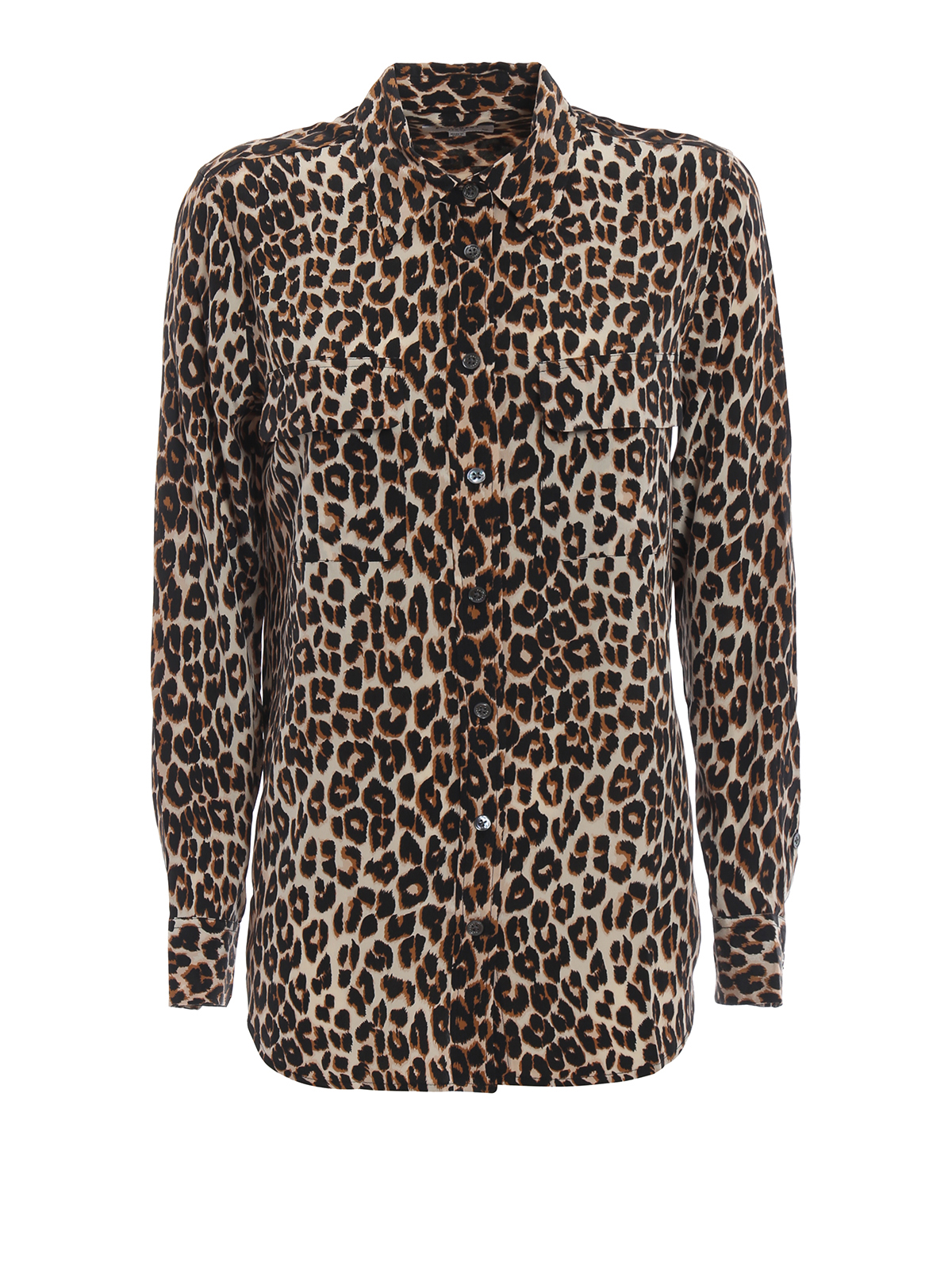 ed8852c51fe2 Equipment - Slim Signature animal print silk shirt - shirts - Q588 E231
