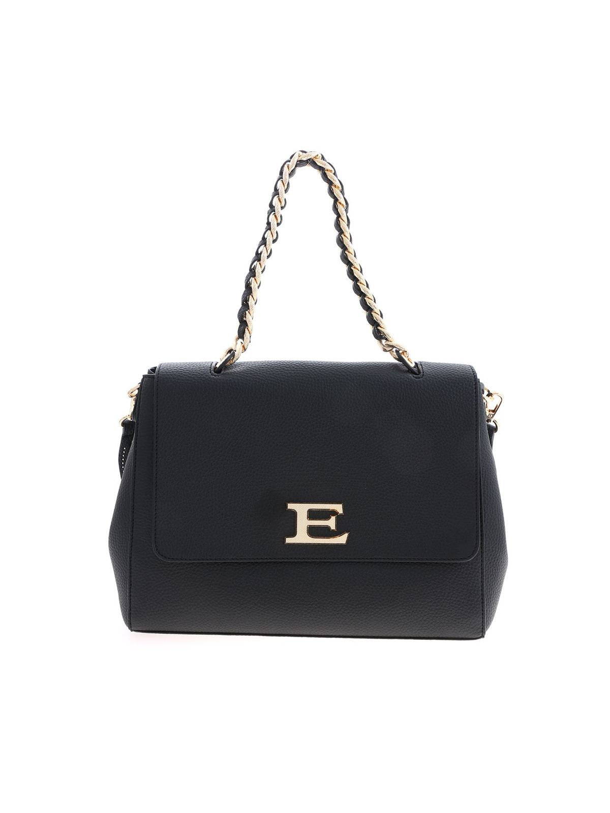 Ermanno Scervino EBA WINTER PLAIN BAG IN BLACK