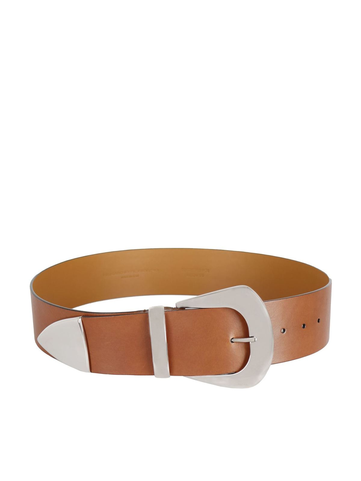 Ermanno Scervino LEATHER BELT IN BROWN