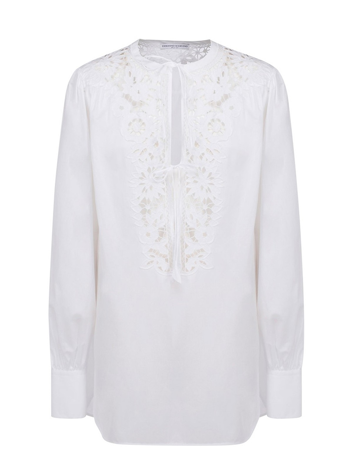 Ermanno Scervino BRODERIE ANGLAISE FRONT BLOUSE