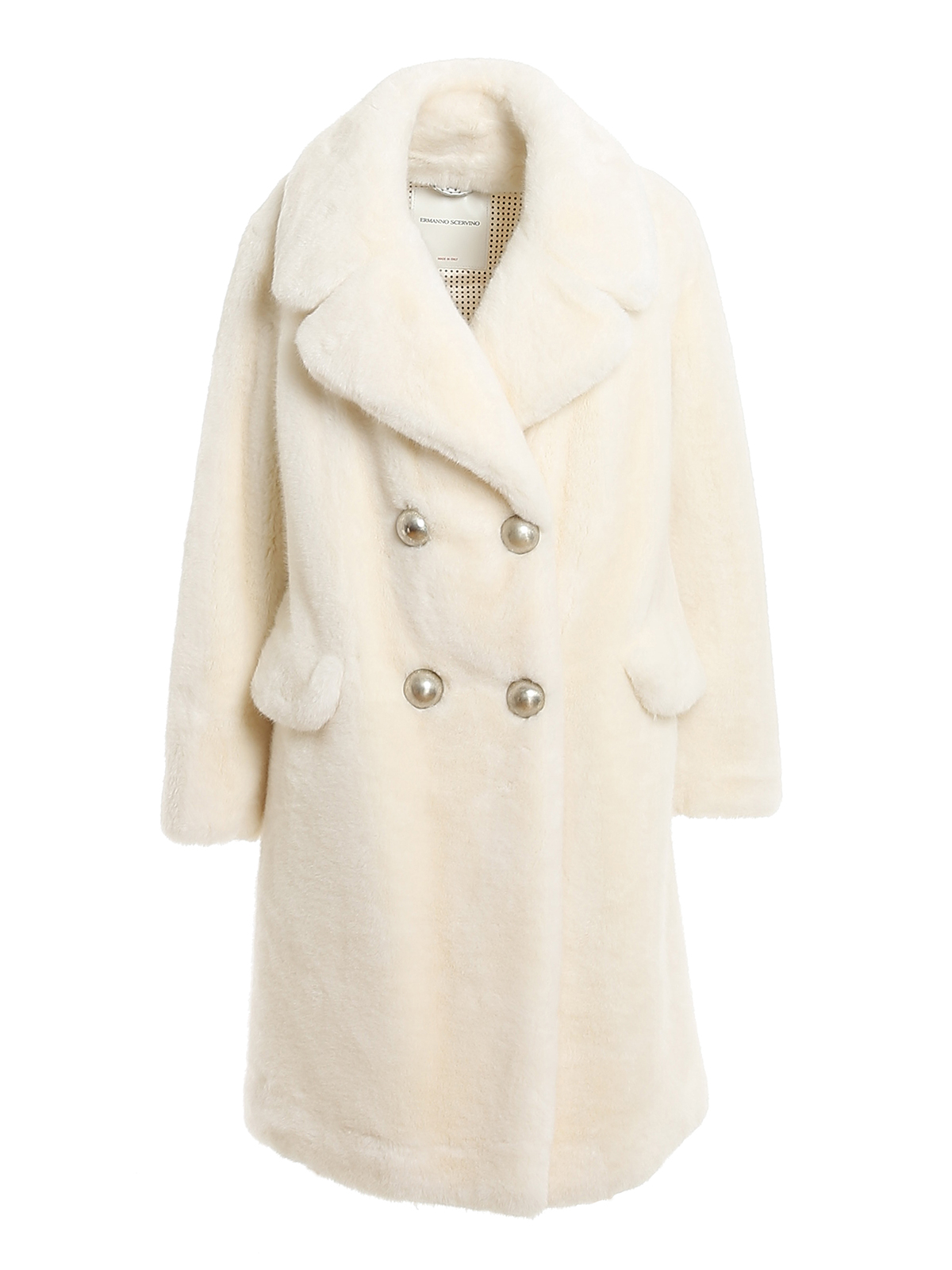 Ermanno Scervino DOUBLE-BREASTED FUR COAT