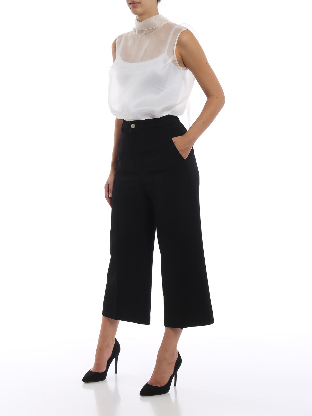 5c636d7d634229 ERMANNO SCERVINO  blouses online - Sheer off white silk organza blouse