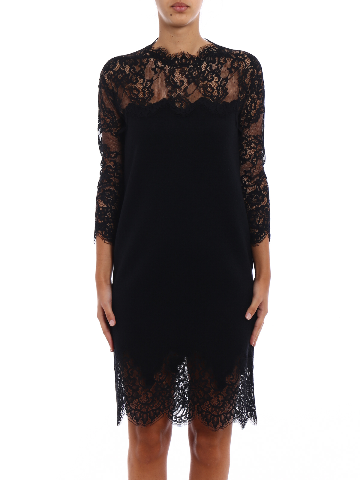 ad378ab9c437 ERMANNO SCERVINO: cocktail dresses online - Bon ton lace pashmina dress