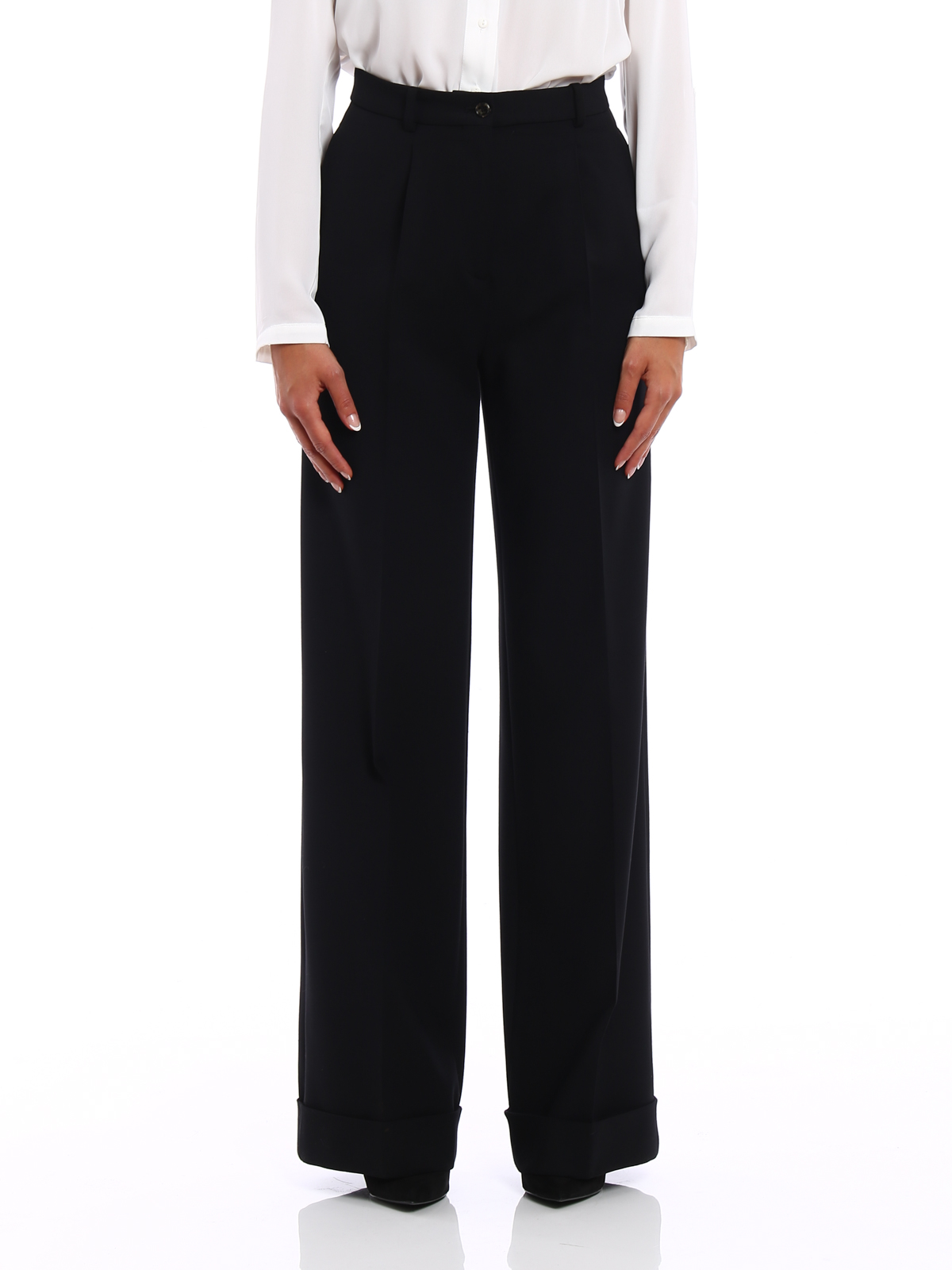 Ermanno Scervino: Tailored & Formal trousers online - Cady palazzo trousers